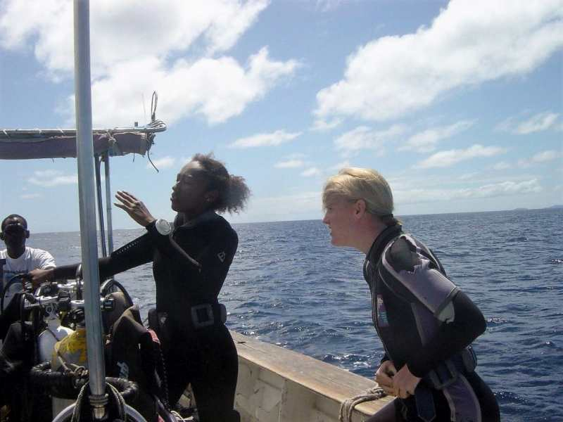 diving course in fiji