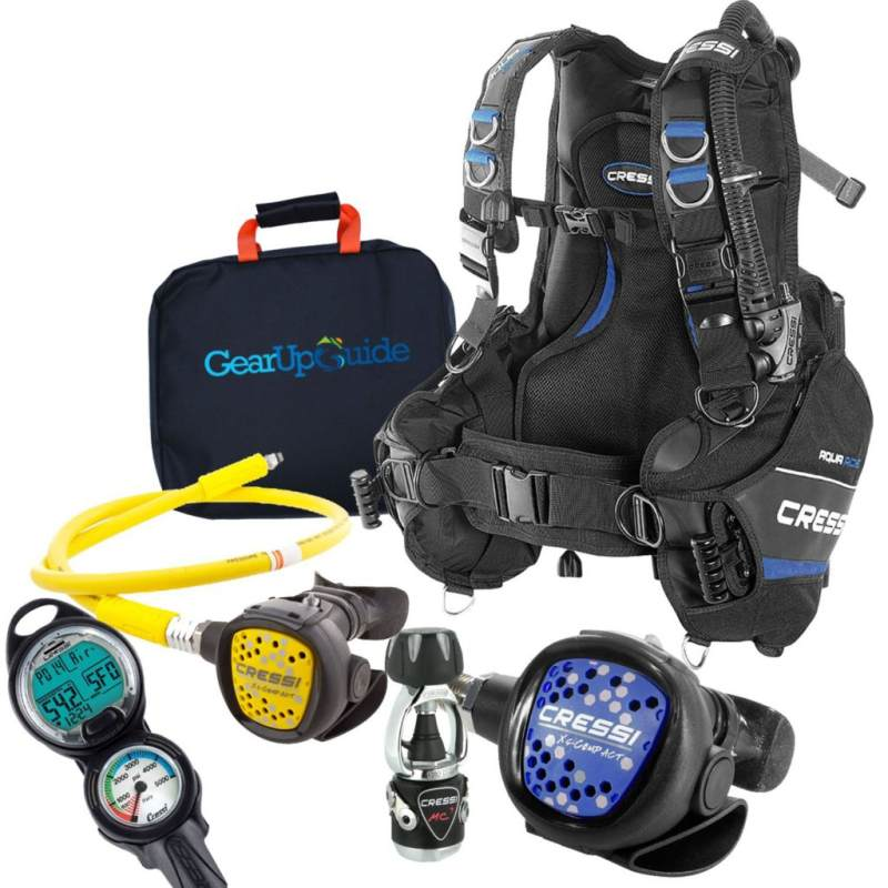 Cressi Aquaride Blue Pro BCD Scuba Gear Package Review
